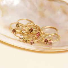 Gold Plated Topaz and Tourmaline Twin Set
