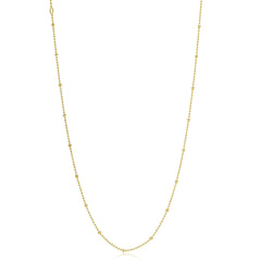 Gold Plated Teeny Ball And Chain Necklace