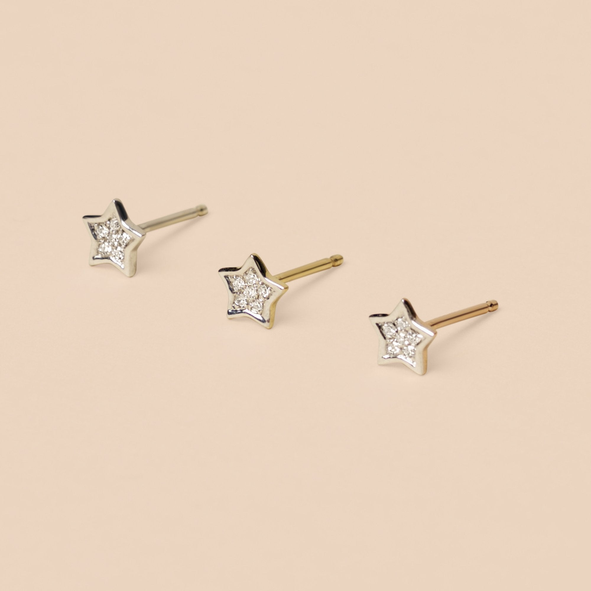 Pave Diamond Star Stud