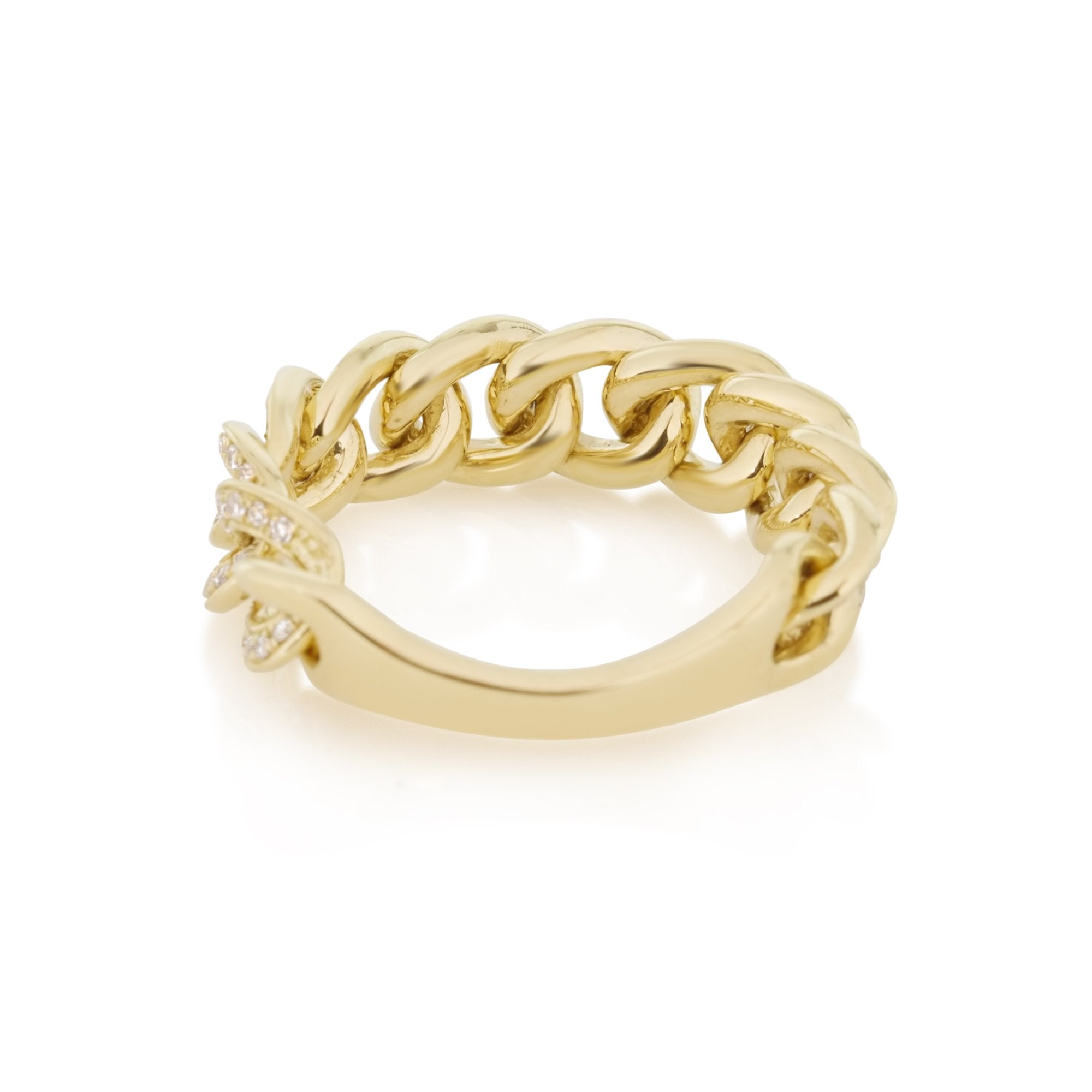 Bold Diamond Pave Chain Ring