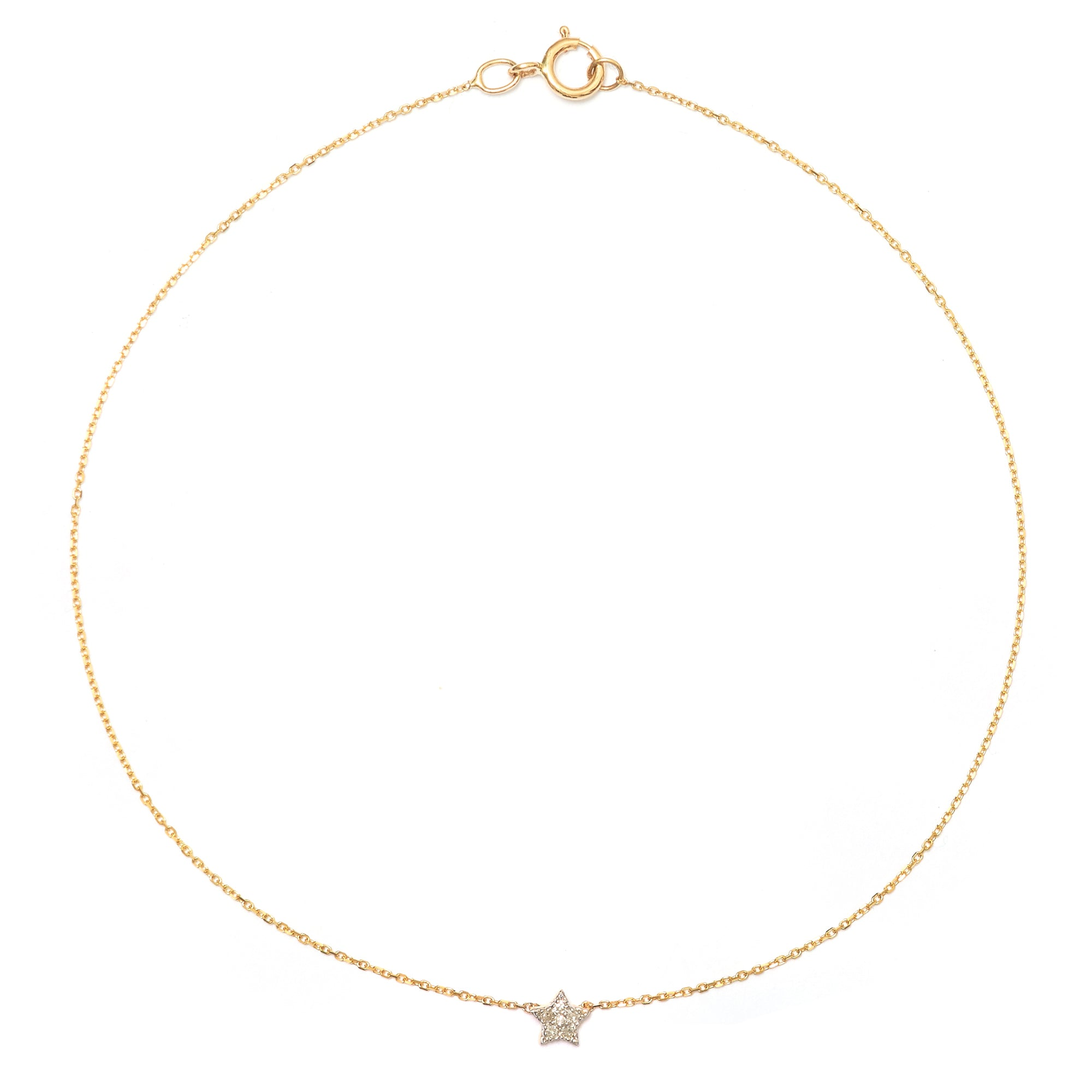 Tiny Pave Diamond Star Anklet