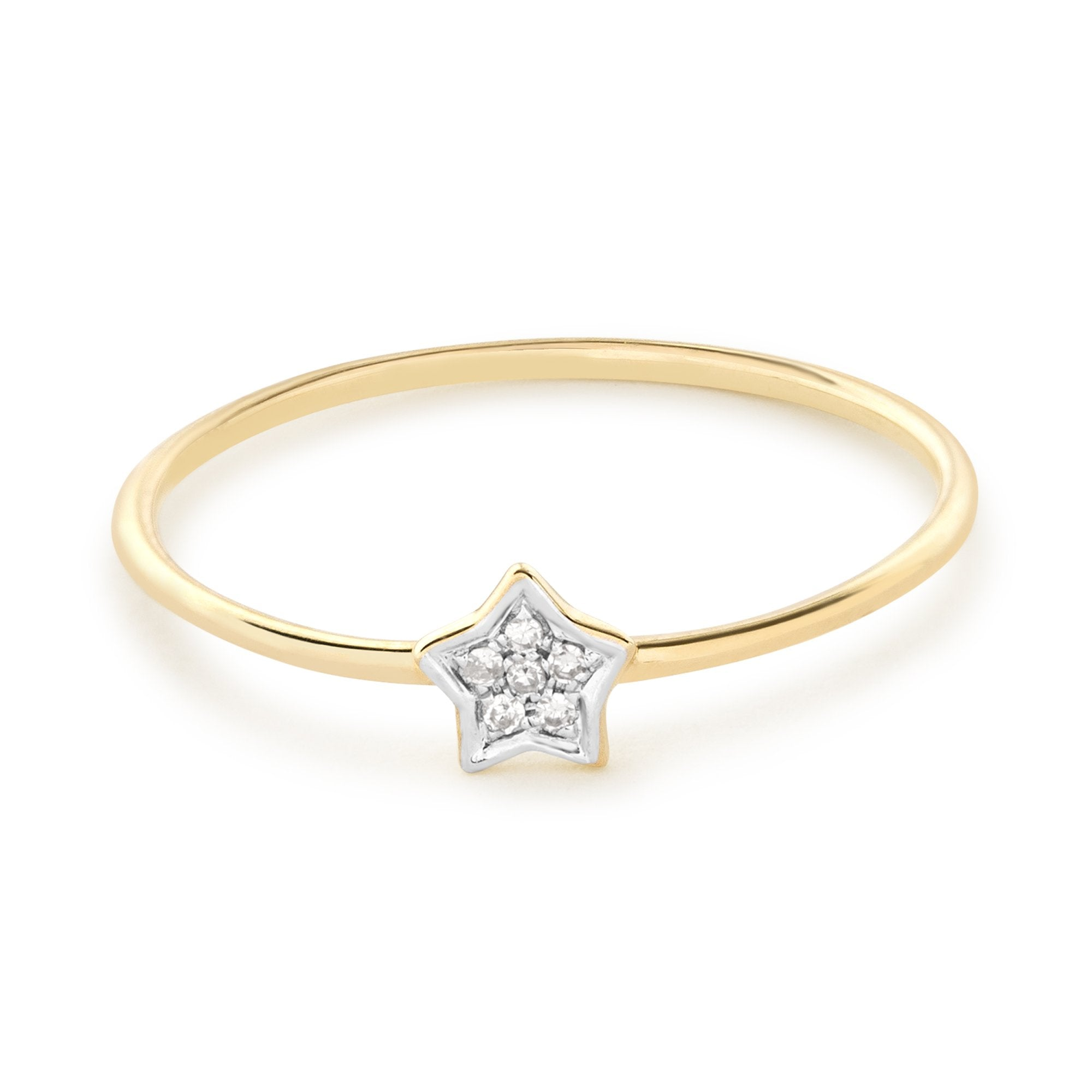 Pave Star Diamond Ring