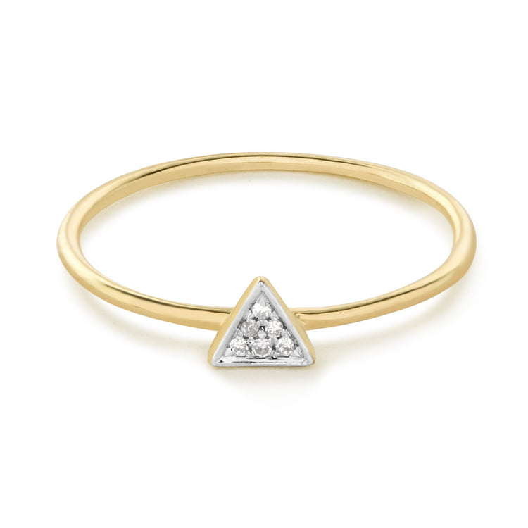 Pave Triangle Ring