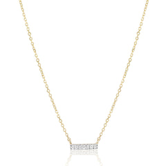Tiny Pave Diamond Bar Necklace