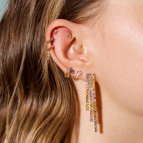 Rainbow Bright Cascade Earrings
