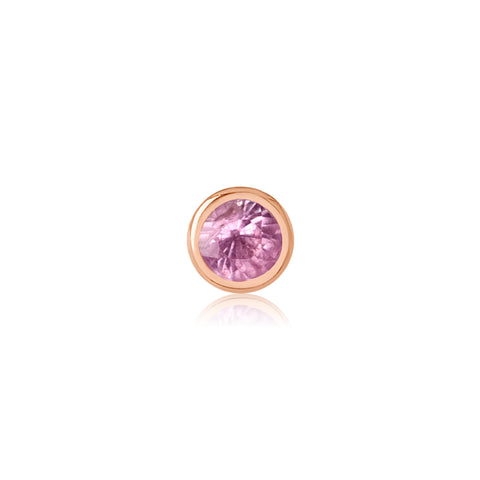 Rose Gold Pink Sapphire Stud