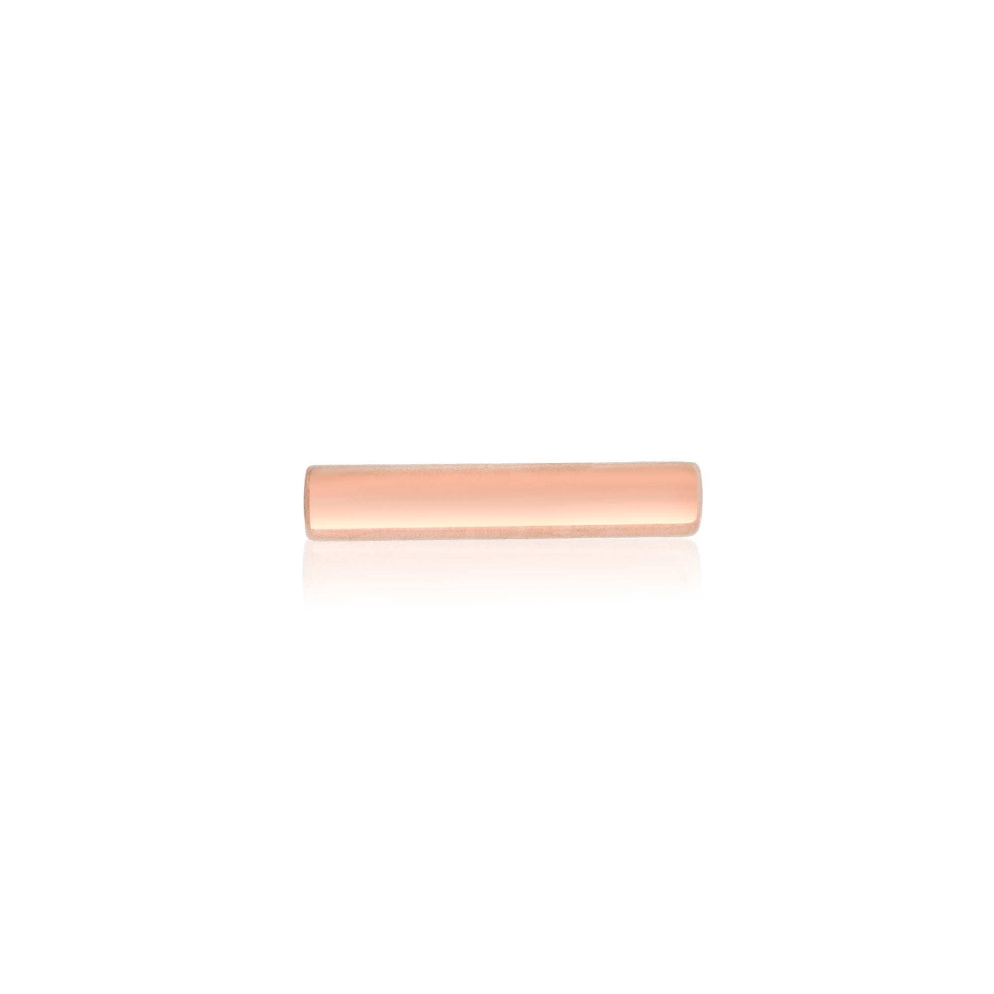 Rose Gold Tiny Bar Stud Earrings