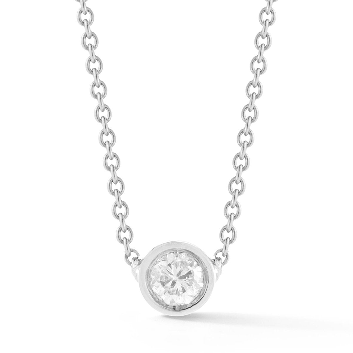 Tiny Round Diamond Necklace - STONE AND STRAND