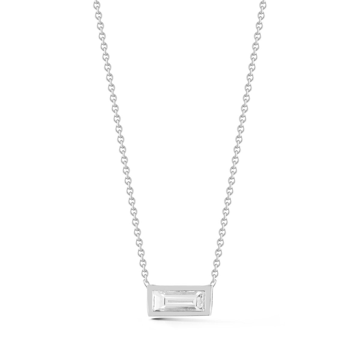 Small Baguette Diamond Necklace - STONE AND STRAND