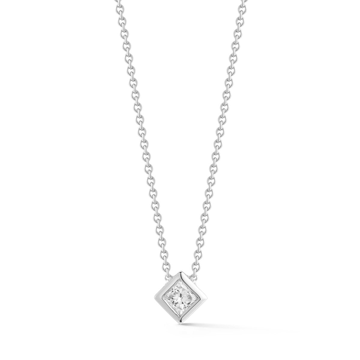 Small Princess Diamond Necklace - STONE AND STRAND