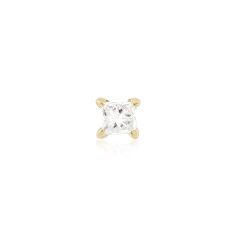 Teeny Princess Diamond Stud - STONE AND STRAND