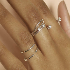 Tiny Princess Diamond Ring