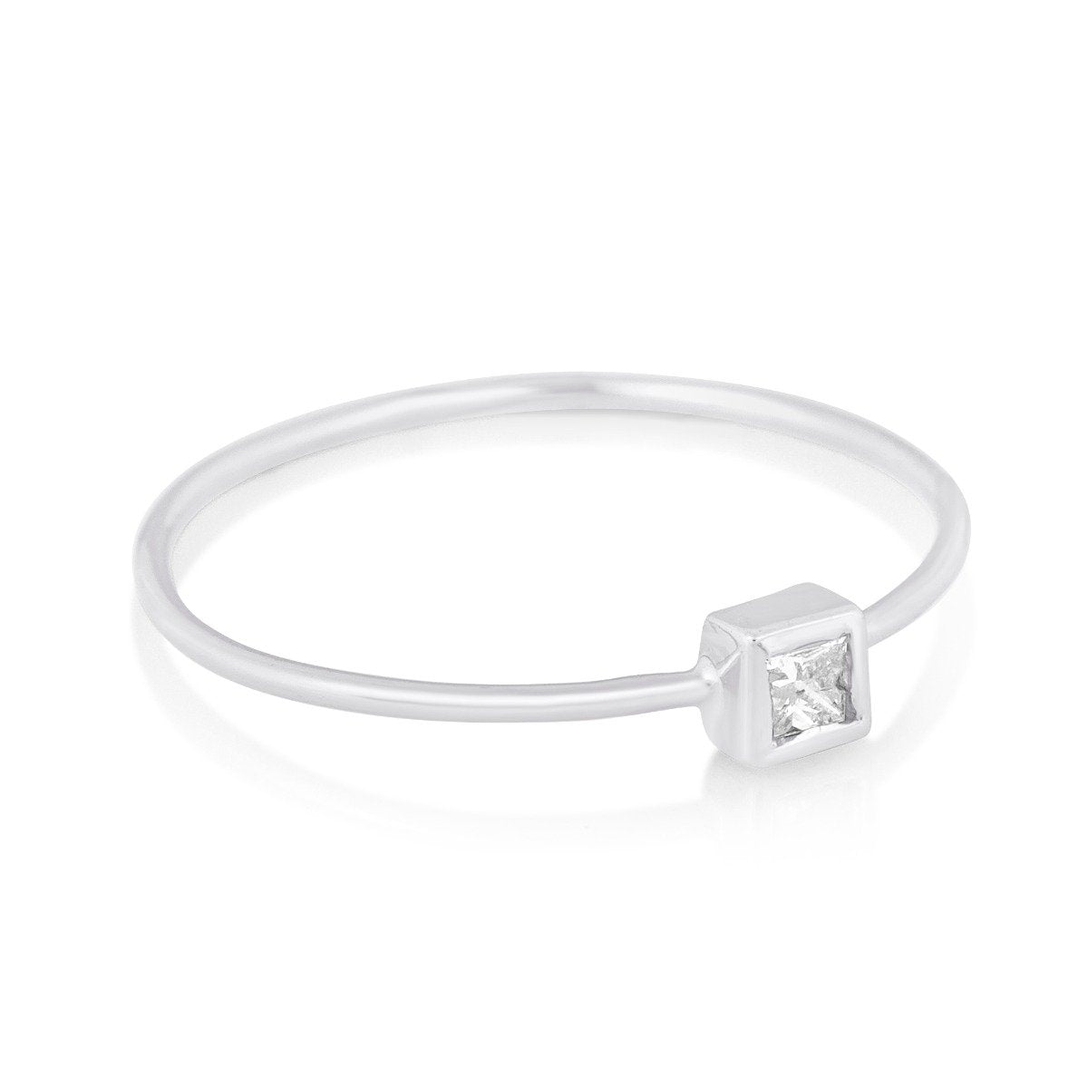 TIny Princess Diamond Ring - STONE AND STRAND