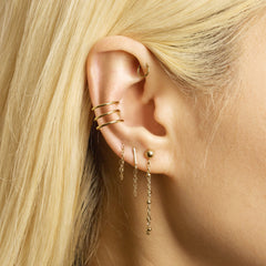 Gold Front-To-Back Chain Earring