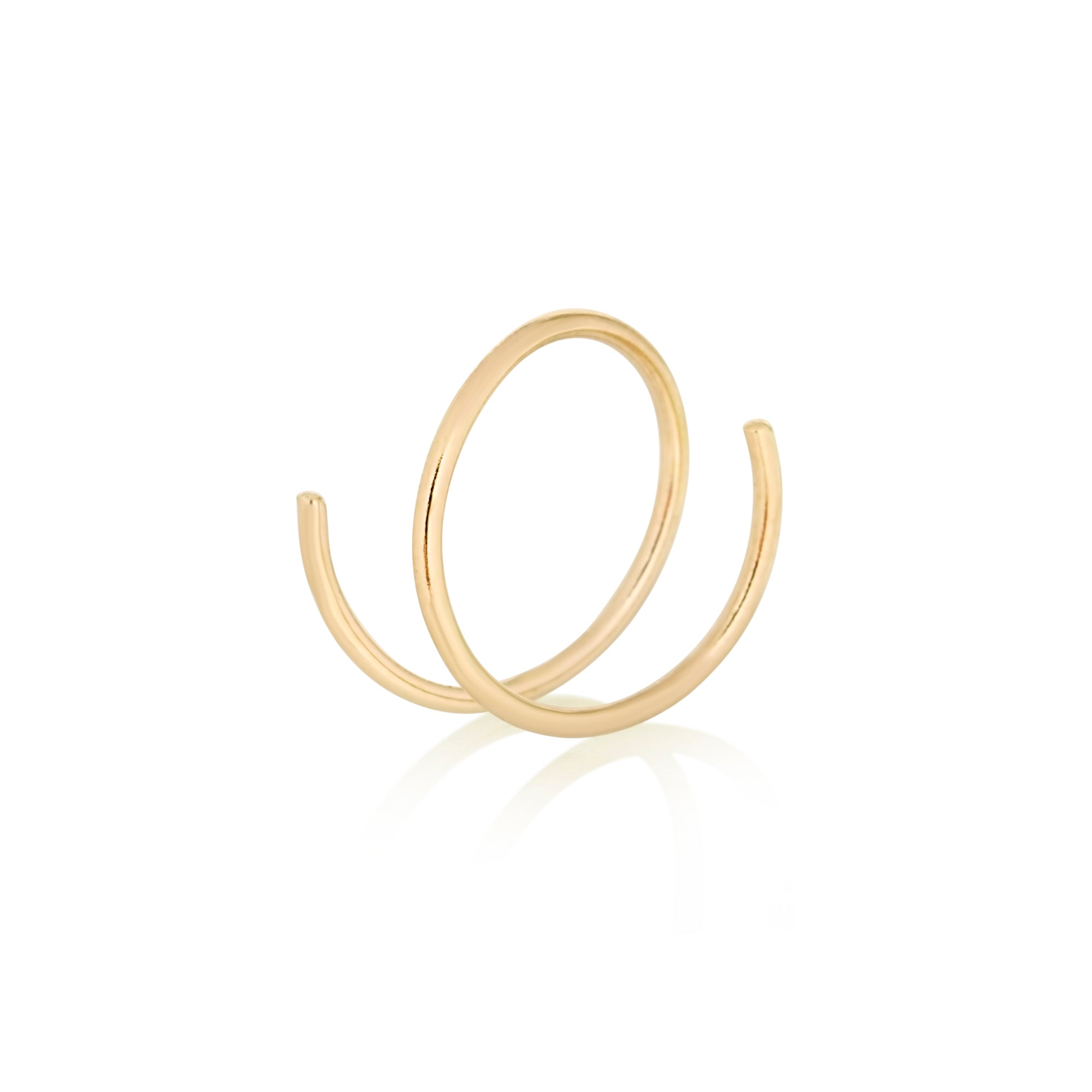 Gold Wire Spiral Earring