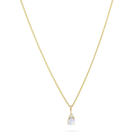 Birthstone And Diamond Pendant Necklace