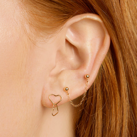 Double-Tap Asymmetric Earrings