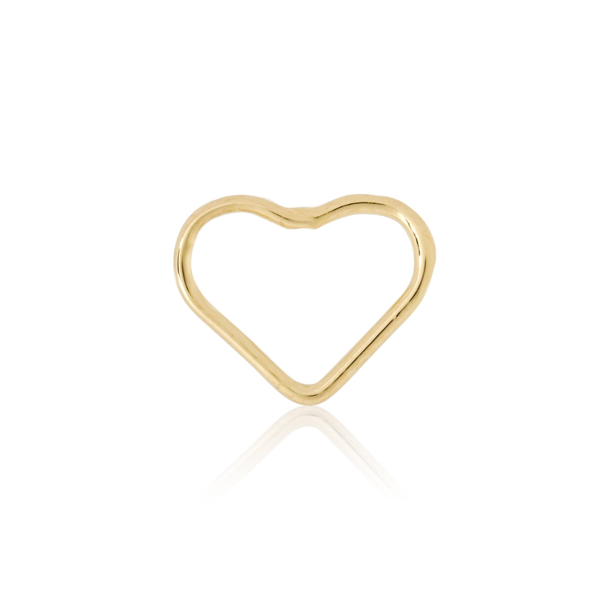 Gold Open Heart Stud