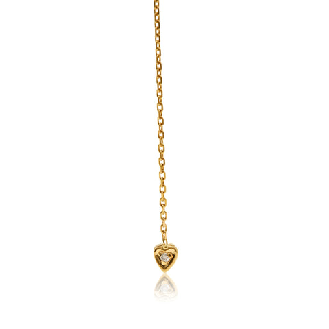 gold chain heart earring