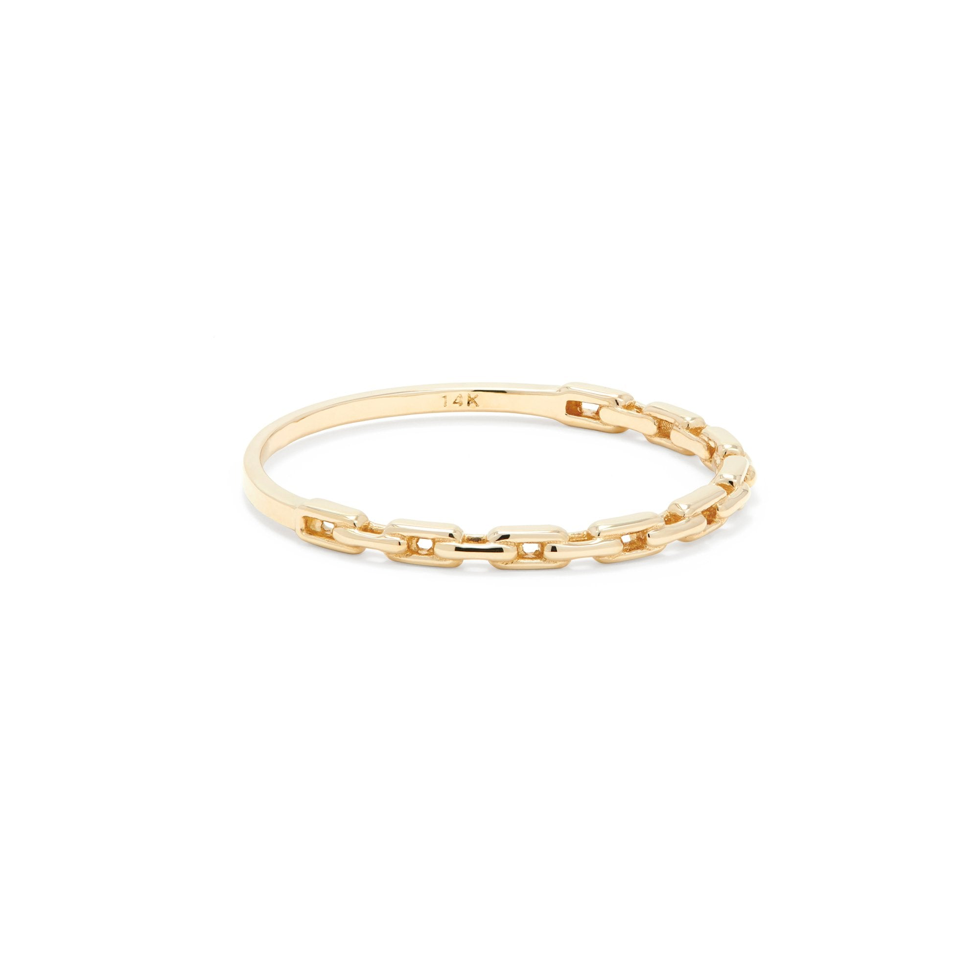 Thin Gold Chain Link Ring