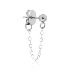 Tiny Bead Chain Earring - Stone & Strand