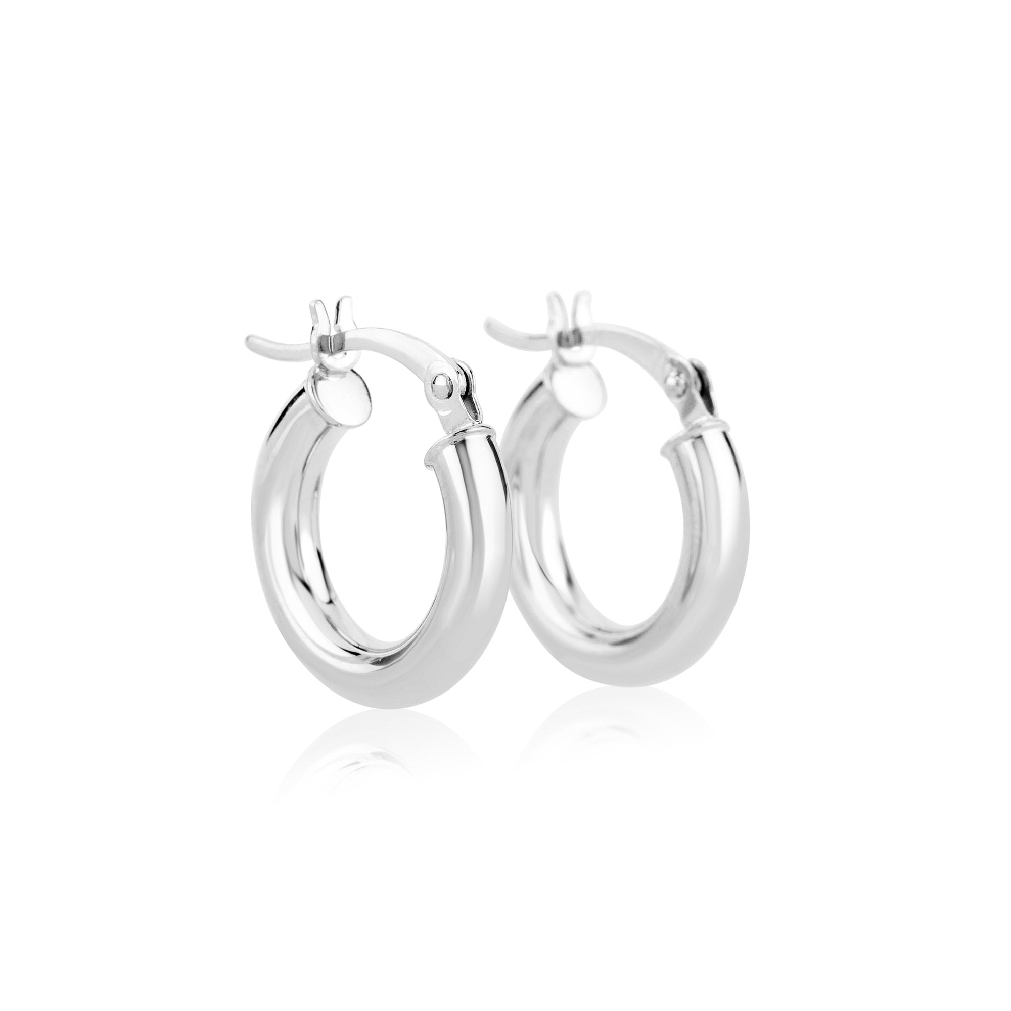Tiny Hollow Hoop Earrings