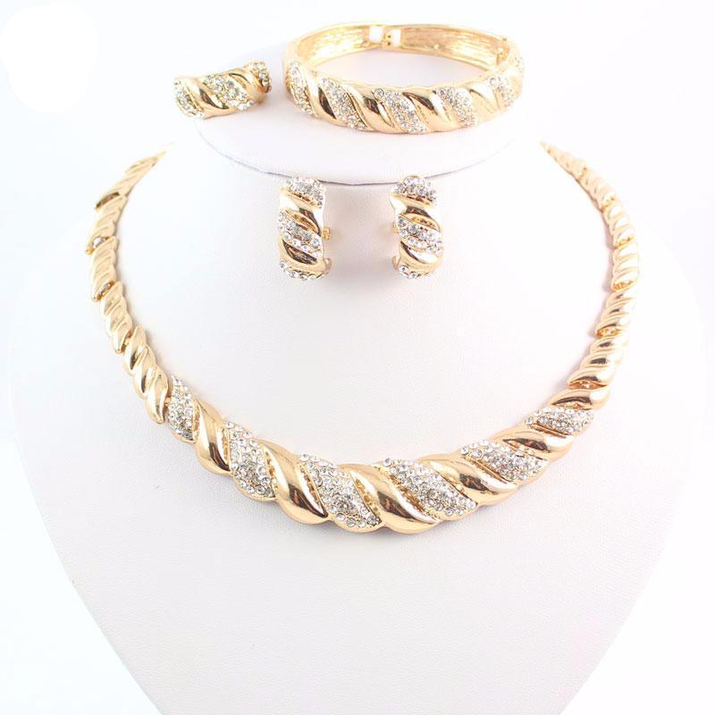 Gold Color Jewelry Set Swankies