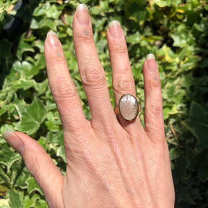 Libyan Desert Glass  Ring (Sterling Silver)