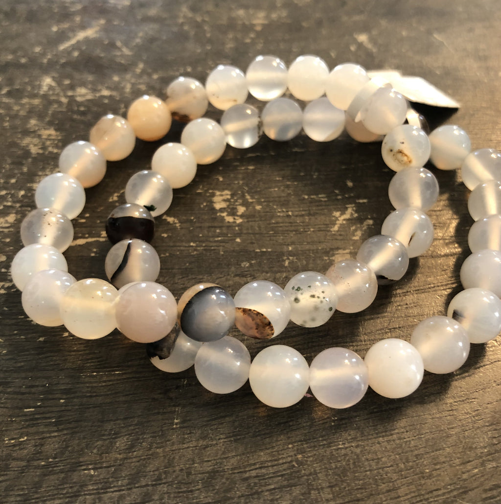 Agate Bracelet (Black and White)