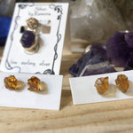 Citrine Earrings (Raw)