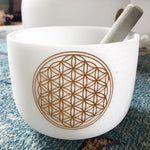 Crystal Singing Bowl (Flower of Life)