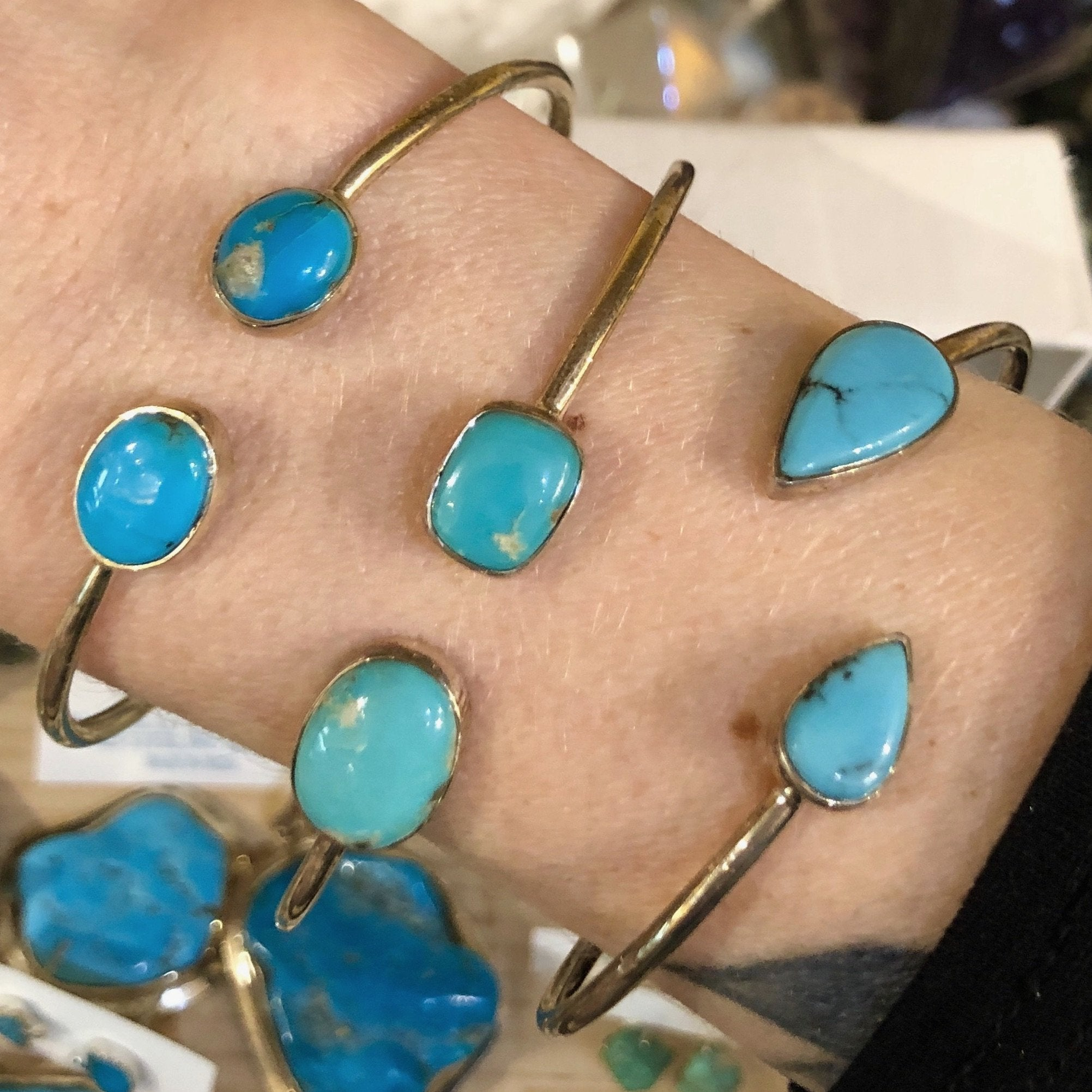 Turquoise Bracelet (Sterling Silver)