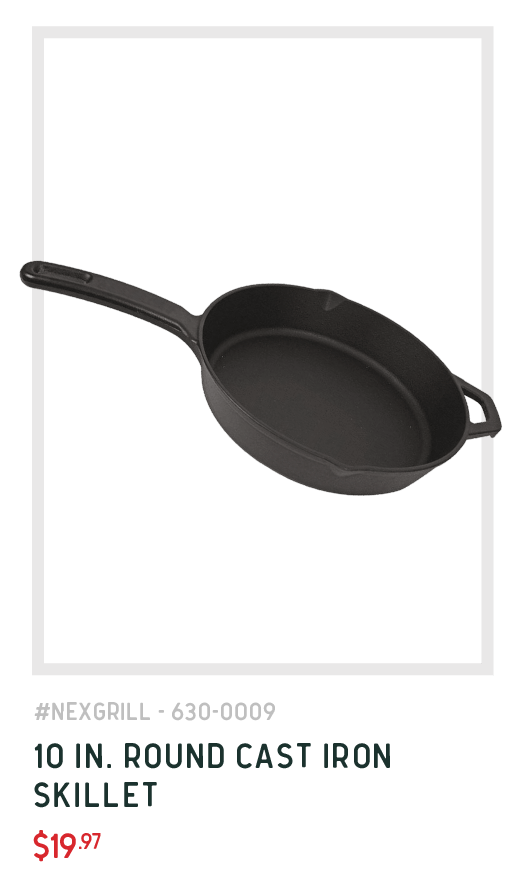 10 inch round cast iron skillet perfect for the outdoors
