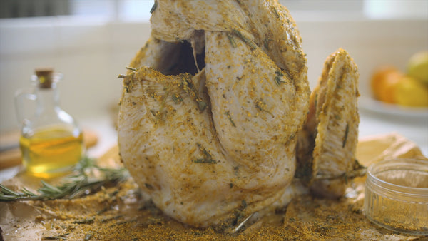 Apply all your marinades and seasonings before using your turkey fryer
