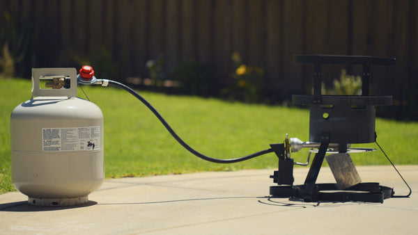Make sure your propane tank isn't too close to the turkey fryer