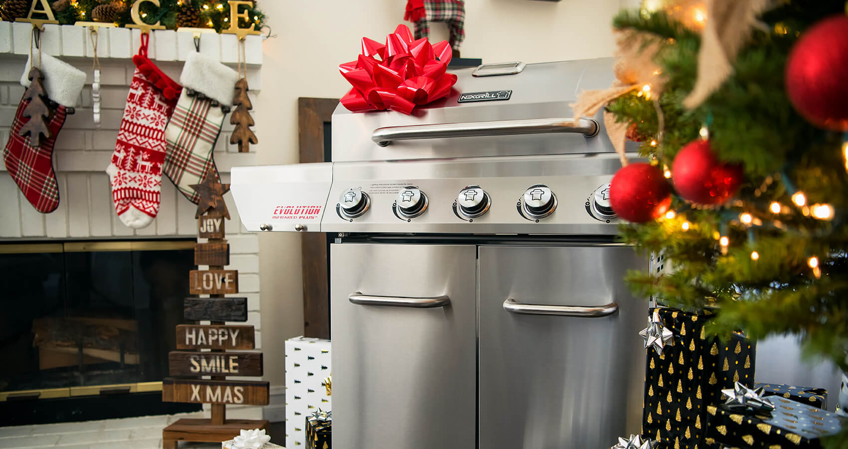 nexgrill grill under the christmas tree