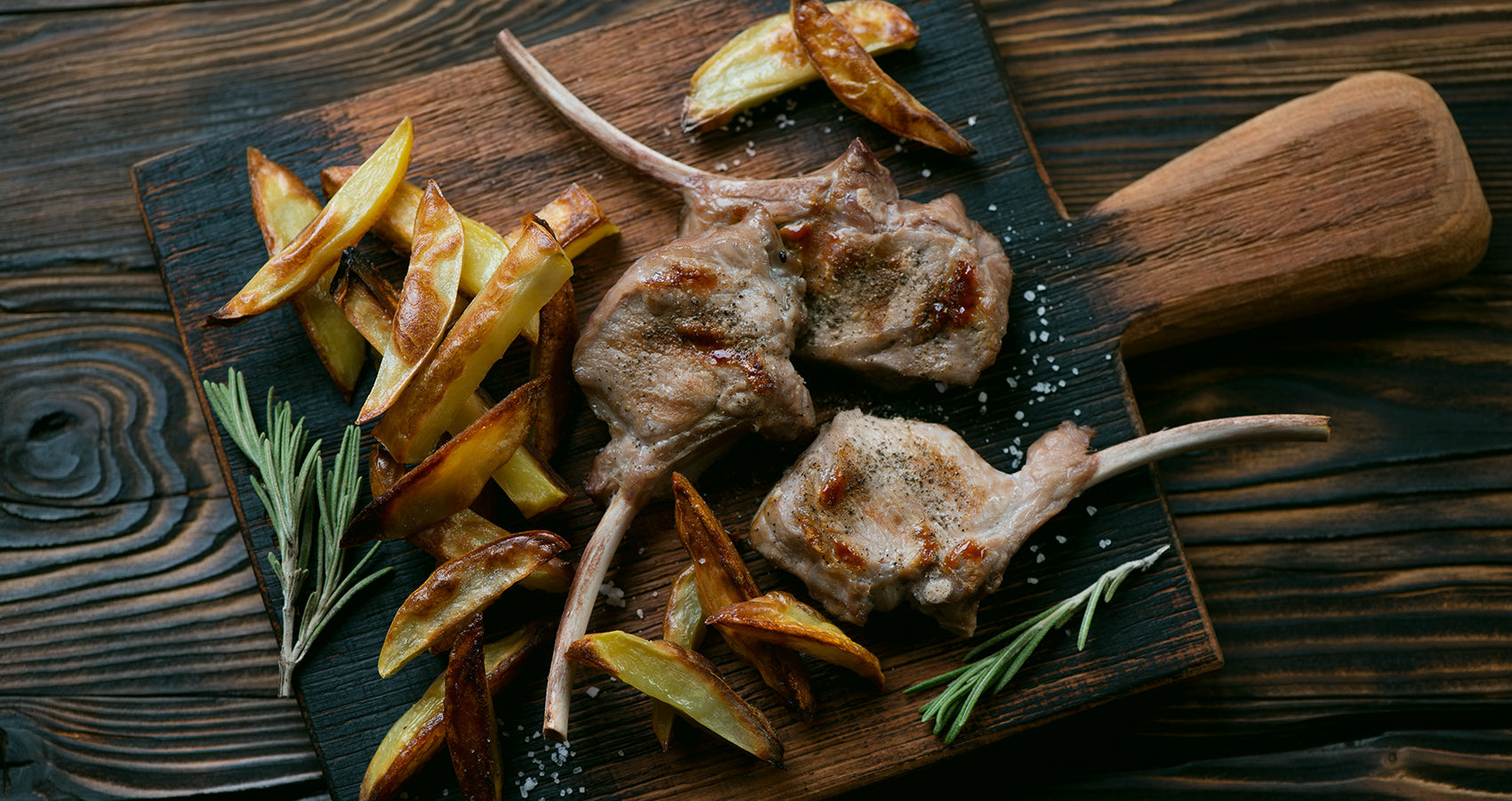 veal chops cooked