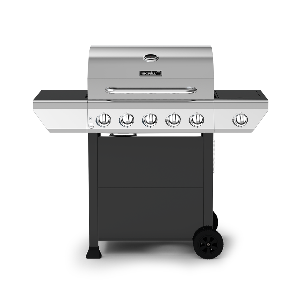 5-Burner Propane Gas Grill with Stainless Steel Side Burner