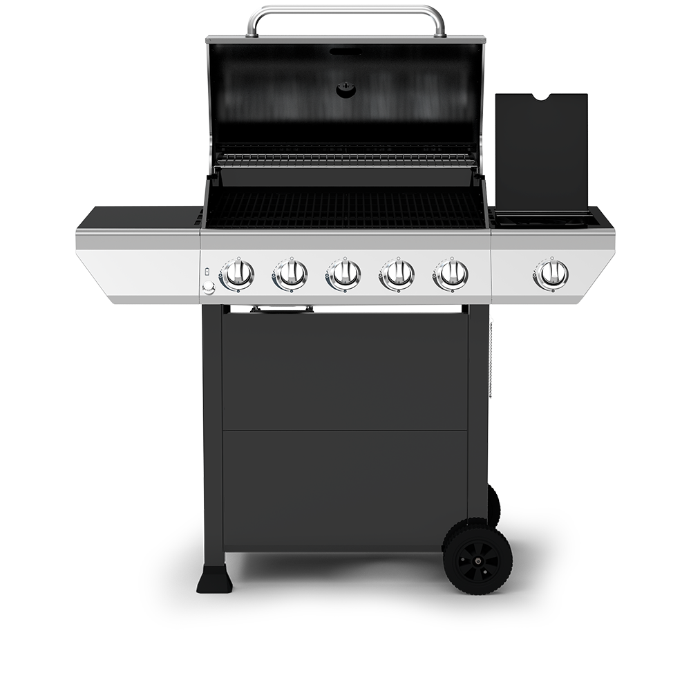 5 Burner Propane Gas Grill with Stainless Steel Side Burner
