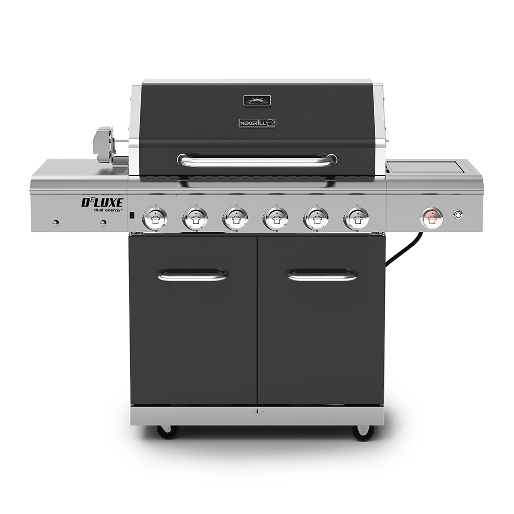 Delicieux Deluxe 6 Burner Propane Gas Grill With Ceramic Searing Side Burner U0026  Rotisserie Kit