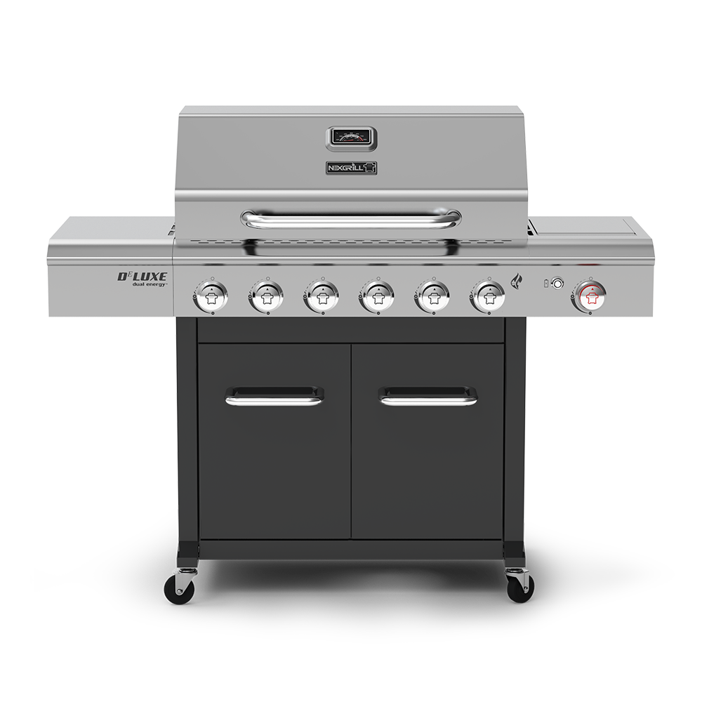Deluxe 6-Burner Propane Grill with Stainless Steel Side Burner