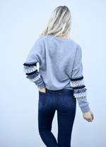 Fringe Sleeve Sweater