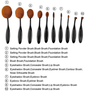 Oval Brush Set | 10 Pieces