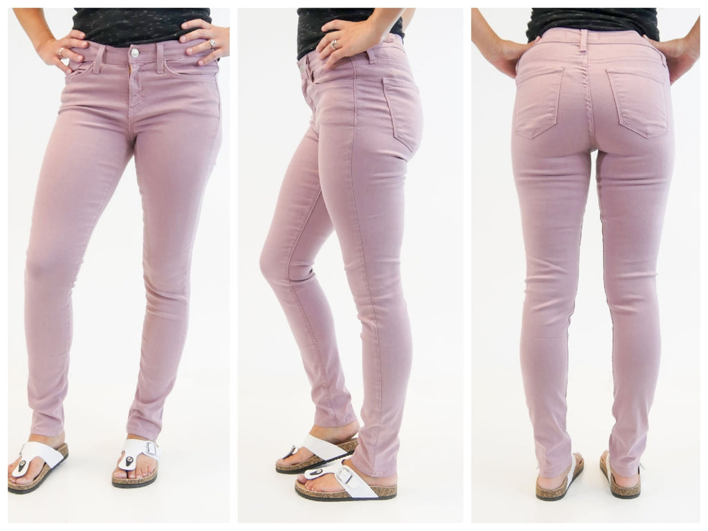 Super Soft Mauve Pink Skinnies