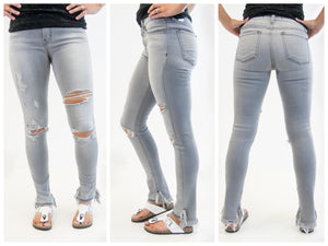 Faded Gray Skinnies