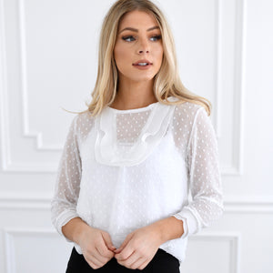 Mary Ruffle Top