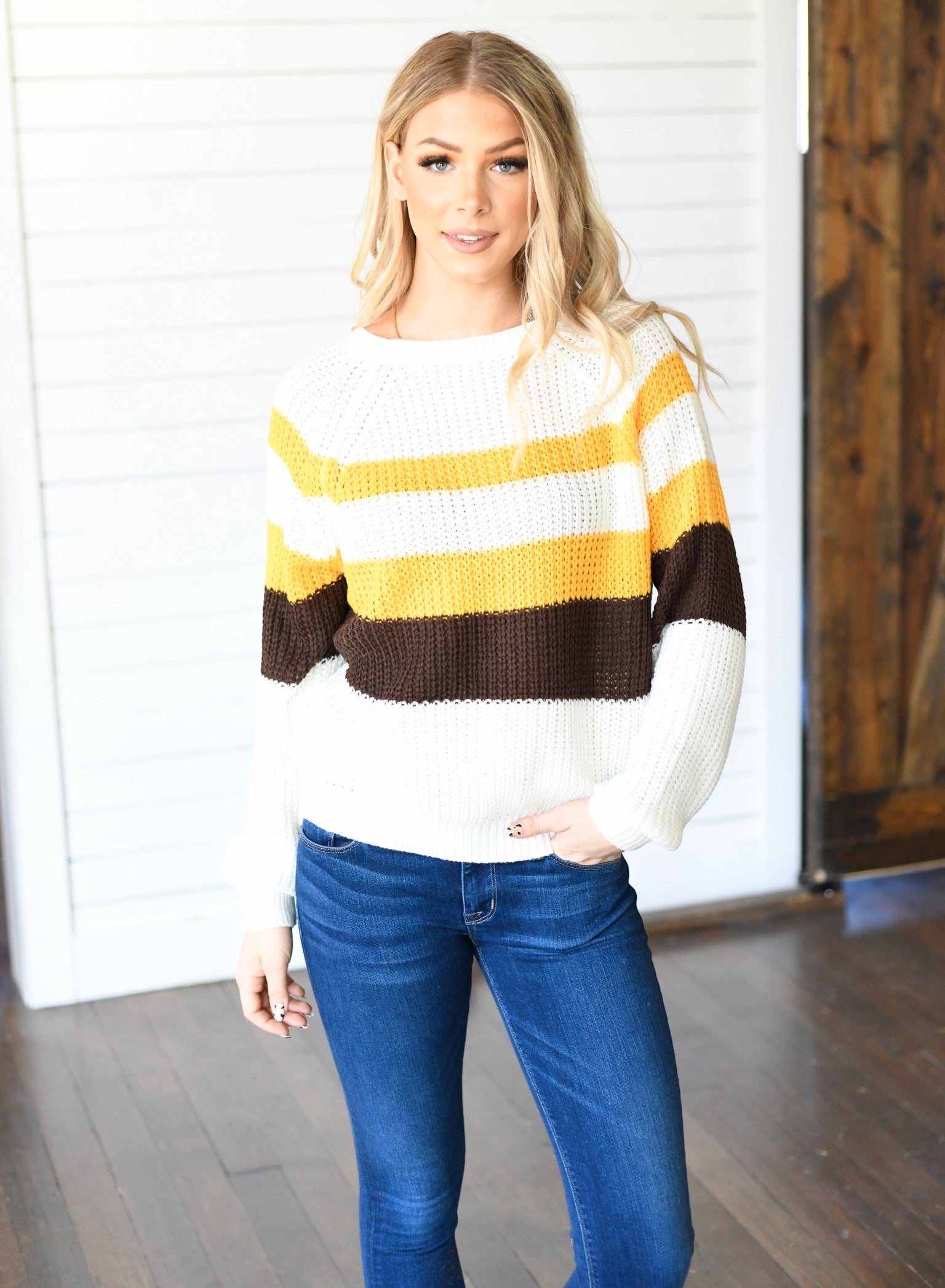 The Jackie Striped Sweater