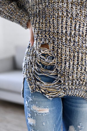 Chunky Distressed Sweater