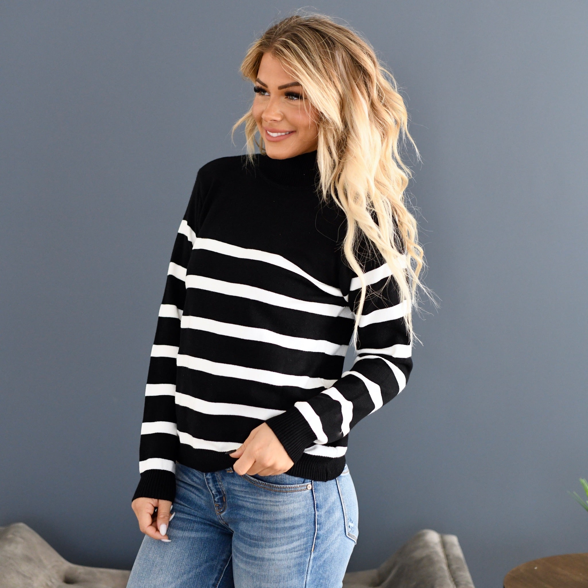 Shelbey Striped Sweater