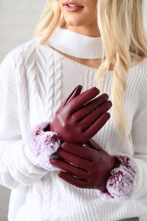 Faux Fur Ladies Gloves